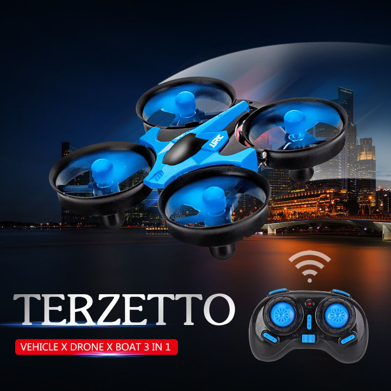 Hot Sales Sea, And Air Amphibious Unmanned Aerial Vehicle Remote Control Model Hovercraft 2.4G Quadcopter
