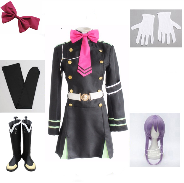 Japanese Seraph Anime From The End Owari No Hiph Hiiragi Shinoa Cosplay Costumes Complete Uniform Ensemble