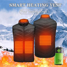 Heating Vest Jacket Men Women Winter Washable USB Electric Charging Warm Camping Hiking Golf Cycling Outdoor Fishing Turtleneck(China)