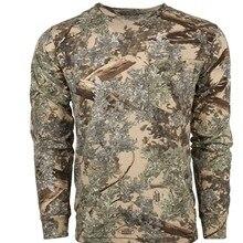Мужская охотничья футболка, камуфляжные рубашки, Мужская футболка с длинным рукавом для выступлений, легкая дышащая быстросохнущая Америк...