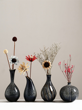 Simple Zen ceramic small vase living room flower arrangement dried flower vase decoration entrance TV cabinet ceramic home decor entrance decoration inflatable flower archway