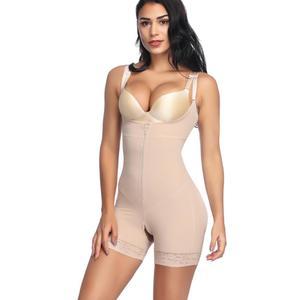 Spandex urządzenie do modelowania sylwetki Body kobiety otwórz biust Shapewear Butt Lifter majtki fajas bielizna brzuch Shaper wtyczki rozmiary