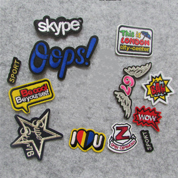 1pcs sell high quality letter patch hot melt adhesive applique embroidery patches stripes DIY decoration accessory C163-C426 image