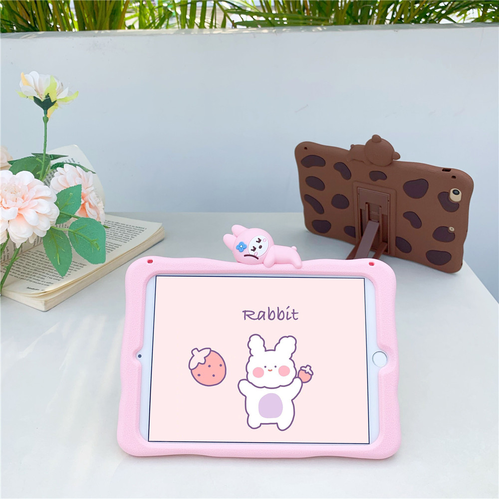 Kids Stand Soft tablet Capa Case For 2020 ipad pro 11inch Cute Rabbit Cartoon Silicon Funda