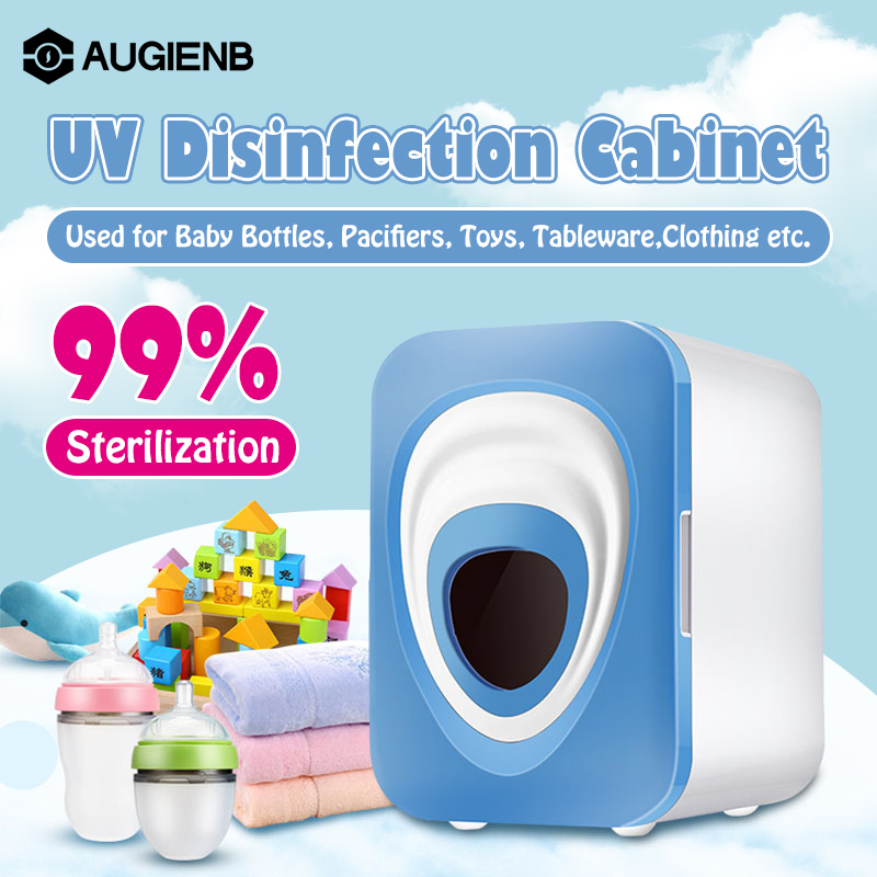 AUGIENB Multi-function Baby Bottle Sterilizer Ultraviolet Disinfection Cabinets Machine for Salon Nail Art Tool Baking 12L