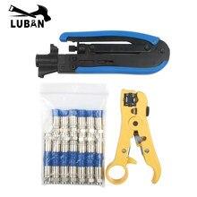 Kit d'outils de sertissage manuel pour câble Coaxial bleu, 20 pièces, pour connecteur de Type F, RG59