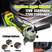 128V/228V Electric Angle Grinder Cordless Large Capacity Battery Polisher Polishing Grinding Machine Wood Metal Cutting Tool Set