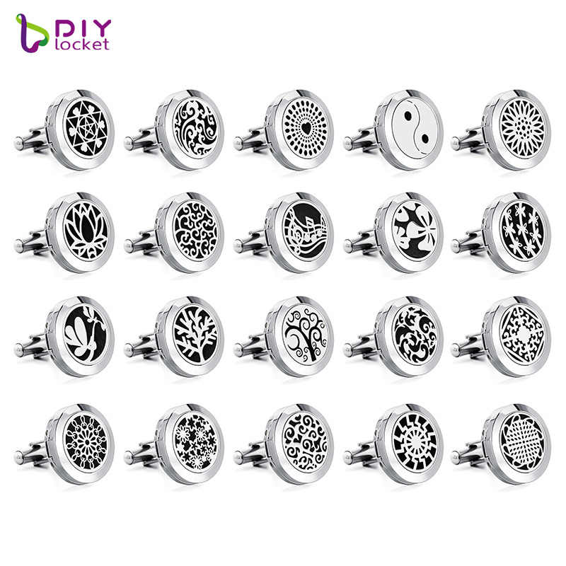 1 Pair 20mm Alloy Plain Essential Oil Diffuser Jewelry Wholesale Cufflinks With Free Pads CH105-156