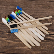10pcs Eco Friendly Adults Bamboo Toothbrush Medium hard Bristles Biodegradable Oral Care multi-color Toothbrushes set 10pcs soft bristle children bamboo toothbrushes ecofriendly oral care travel toothbrush rainbow color kid's bamboo toothbrushes