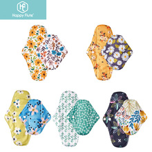 Happy Flute Reusable Sanitary Pads10 pieces Bamboo Charcoal Washable and Waterproof Menstrual Pads Sanitary Pads