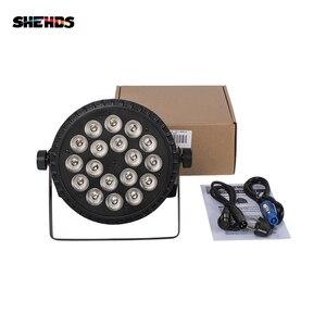 Image 4 - SHEHDS אלומיניום סגסוגת LED שטוח Par 18x18W RGBWA אור UV אלחוטי DMX 512 שלב תאורה עבור DJ דיסקו המפלגה מקרן מועדון לילה