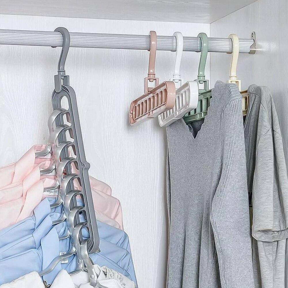 Multifunctional folding magic hanger rotating magic hanger wardrobe closet drying rack hanger storage rack