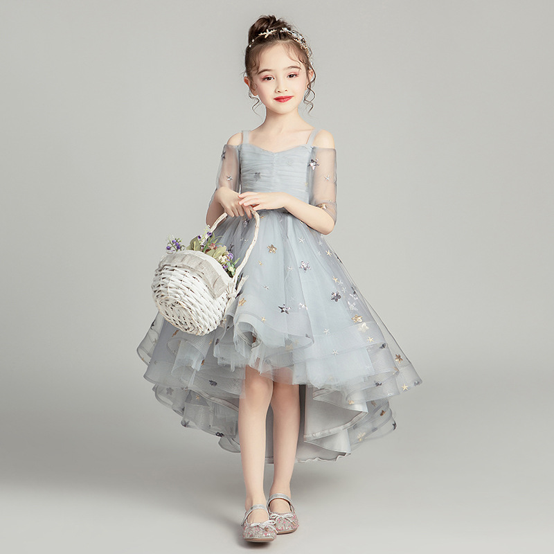 CHILDREN'S Dress Princess Dress Flower Boys/Flower Girls Wedding Dress Puffy Yarn Immortal Little Girl Western Style Host Piano