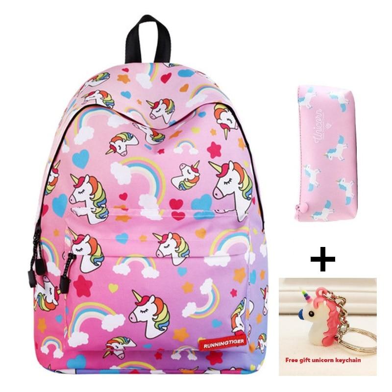 Unicorn Children's Schoolbag Primary School Backpack Cute Animal Kids School Bags For Girls Boys Kids Kindergarten Backpacks