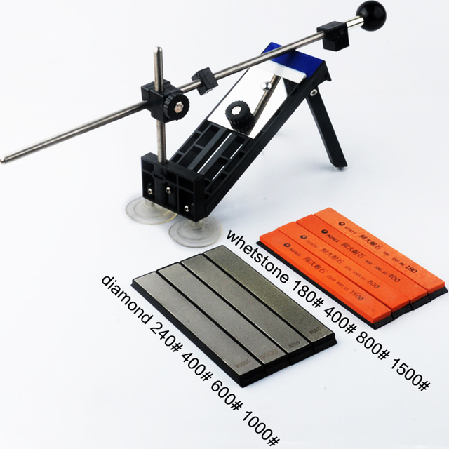 [Video]1 Set New fixed angle knife sharpener professional sharpening tool set meal grindstone diamond grinding knife board