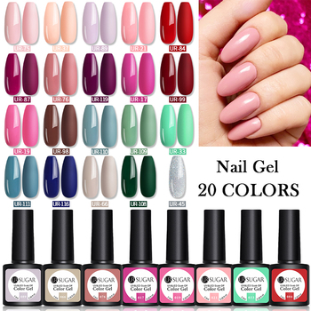 UR SUGAR 10/20pcs/Lot Gel Nail Polish Set 122 Colors Glitter Color Semi Permanent UV Led Gel Varnish Soak Off Nail Lacquers 4