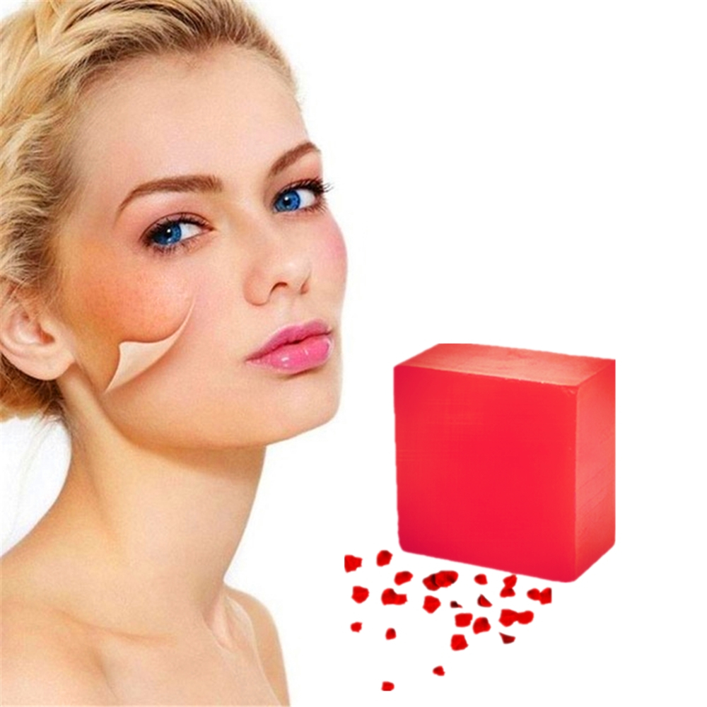 Coarse Pore Treatment Face Soap Body Odor Cleaner Pimple Exfoliator Wild Rose Fragrance Purifying Body Bathing Soap Strong Aroma