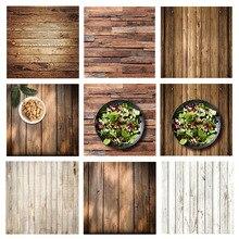 Alloyseed 60x60cm retro placa de madeira textura fotografia fundo para estúdio foto vídeo fundos fotográficos adereços