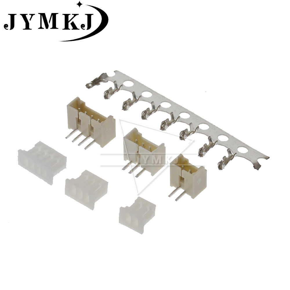 MICRO JST 1.25 2/3/4/5/6/7/8/9/10 pin connector 1.25MM Pitch Haakse pin header + Behuizing + terminal 1.25-2 p/3 p /4 p/5 p 20sets