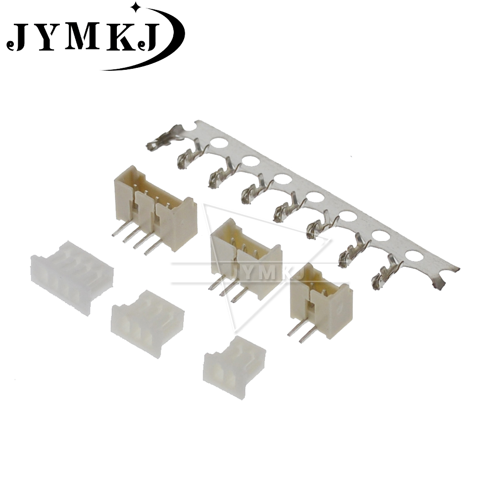 MICRO JST 1.25 2/3/4/5/6/7/8/9/<font><b>10</b></font> <font><b>pin</b></font> connector 1.25MM Pitch Right <font><b>Angle</b></font> <font><b>pin</b></font> <font><b>header</b></font> + Housing + terminal 1.25-2p/3p/4p/5p 20sets image