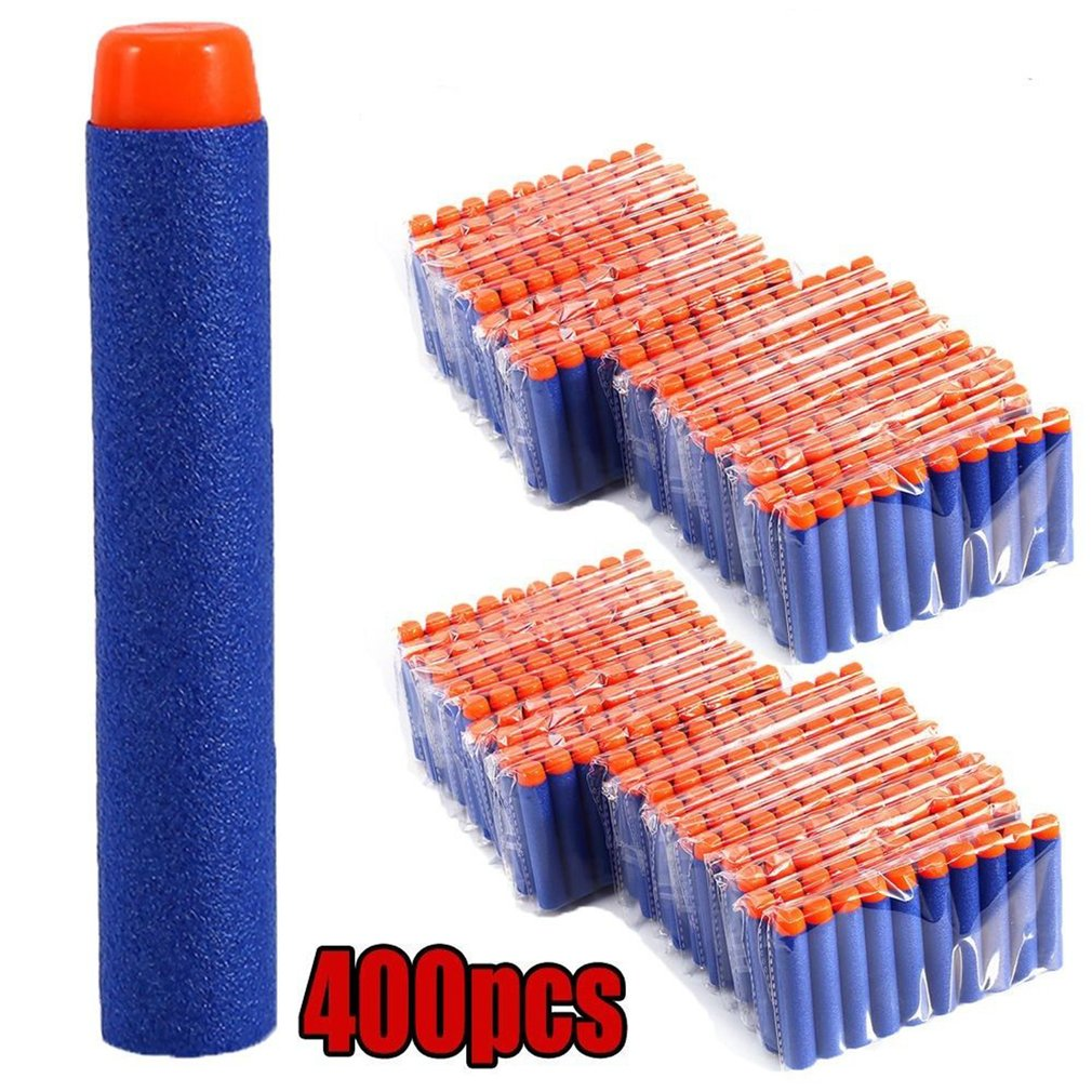 400pcs/set Soft Bullets Darts For Nerf Gun Round Head Refill Sponge Darts Safety Kids Toy Gun Bullets For NERF N-Strike Blasters