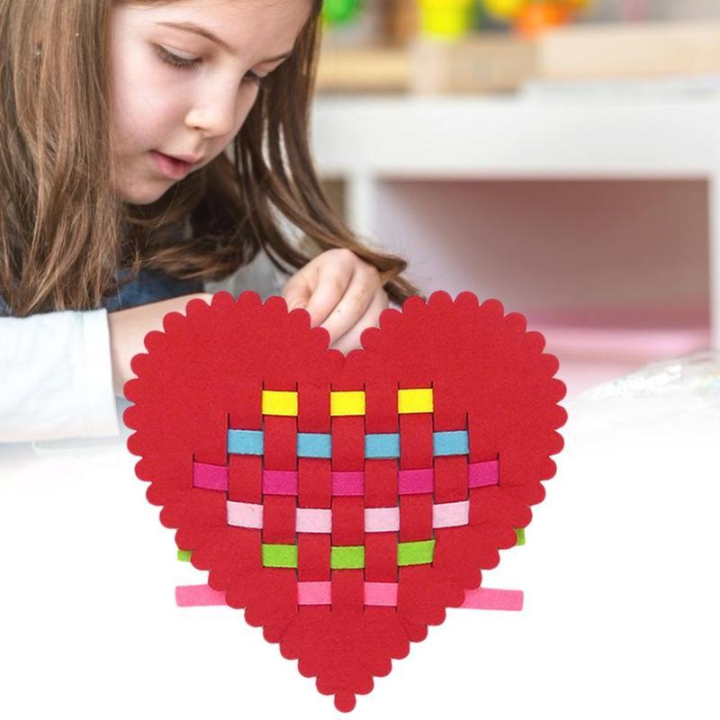 Durable DIY Non Woven Craft Toy Delicate Texture Children DIY Non Woven Crafts Felt Fabric Kindergarten Study Early Teaching Toy