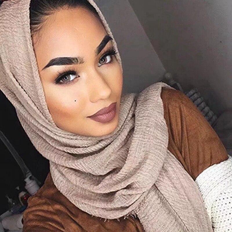 Bubble Plain Scarf/cotton Scarf Fringes Women Soft Solid Hijab Popular Muffler Shawls Big Pashmina Wrap Hijab Scarves 180*90CM