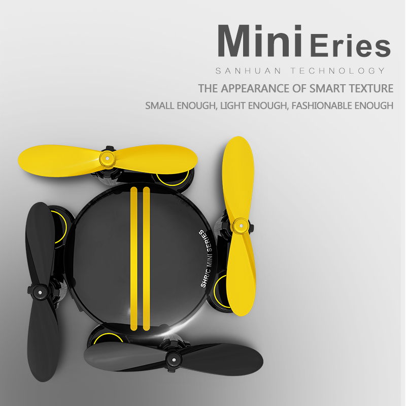 Mini Folding Drone with HD WIFI Aerial Photography Remote Control Small Aircraft for Replaceable Battery SH1 Quadcopter