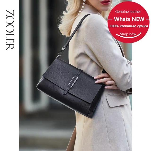 ZOOLER 100% Cow skin Leather Fashion Shoulder Bags High Quality Solid Crossbody Bag Women Bags Designer Day Clutch Girls #WG229