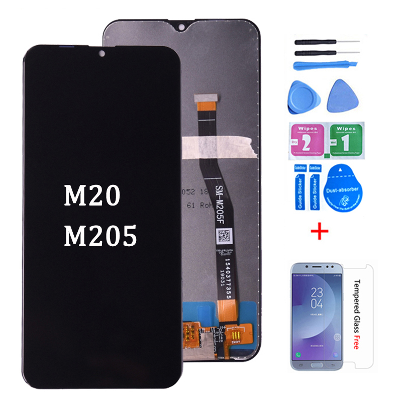 100% Original LCD For Samsung Galaxy M20 M205 M205F SM-M205F/DS LCD Display With Touch Screen Digitizer Assembly Free Shipping