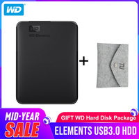 Western Digital WD Elements Portable hard drive 1TB 2TB 4TB External hdd 2.5inch USB 3.0 Hard Drive Disk Original for PC laptop