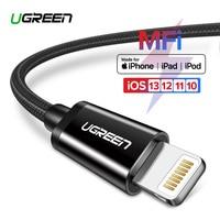 Ugreen 2.4a Lightning MFi USB кабель для iPhone 7 6 5 быстро Зарядное устройство USB кабель для iphone 8X5 5S iPad Ipod зарядки шнур