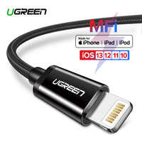 Ugreen MFi USB Cable for iPhone 11 Pro X XS 8 2.4A Fast Charging Lightning Cable for iPhone 6 USB Data Cable Phone Charger Cable