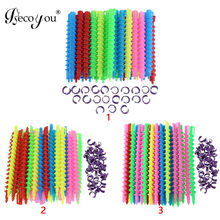40pcs Long Spiral Hair Curlers No Heat Spiral Curls Styling Rollers Accessories for Home Salon DIY Hairstyling Random Colors