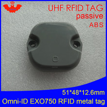 Uhf Rfid Anti-Metal Tag Omni-Id Exo 750 EXO750 915 Mhz 868 Mhz Impinj Monza4QT EPCC1G2 6C duurzaam Abs Smart Card Passieve Rfid Tags(China)