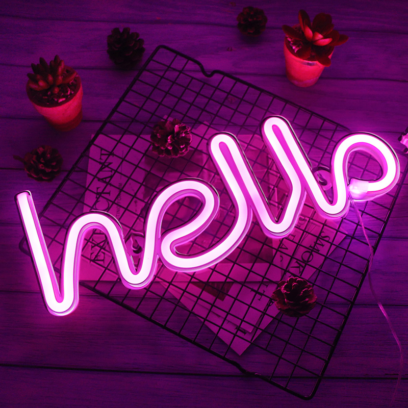 Creative LED Neon Sign Night Light Rainbow Love Wedding Party Decoration Neon Lamp Christmas Decor for Home Ornaments Xmas Gifts