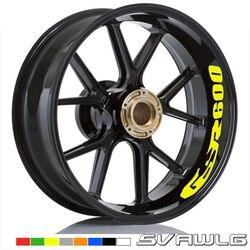 For SUZUKI GSR 600 GSR600 GSR400 GSR 400 Motorcycle Front & Rear CUSTOM INNER RIM DECALS WHEEL Reflective STICKERS STRIPES
