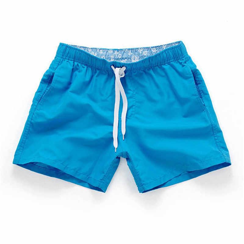 Boardshort Short Hommes D'été Respirant Séchage Rapide Cuisse Longueur S-XXXL short de grande taille Mâle Solide Cordon Shorts de Plage Hommes