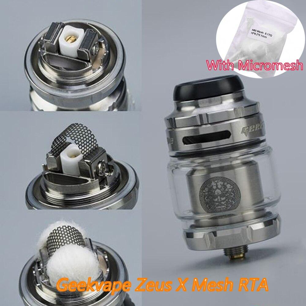 Geekvape Zeus X Mesh RTA 25mm 4.5ml Capacity With 510/810 Drip Tip Vape Tank Electronic Cigarette Atomizer VS Zeus Dual
