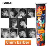 Kemei T-outliner Cordless Mode Graffiti Trimmer Männer Null Gapped Professional Hair Clipper Gekritzel Finish Haar Schneiden Maschine