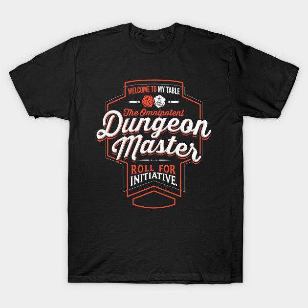 Dungeon Master Fantasy Rpg T-Shirt Tees Clothing Classic Quality High T-Shirt image