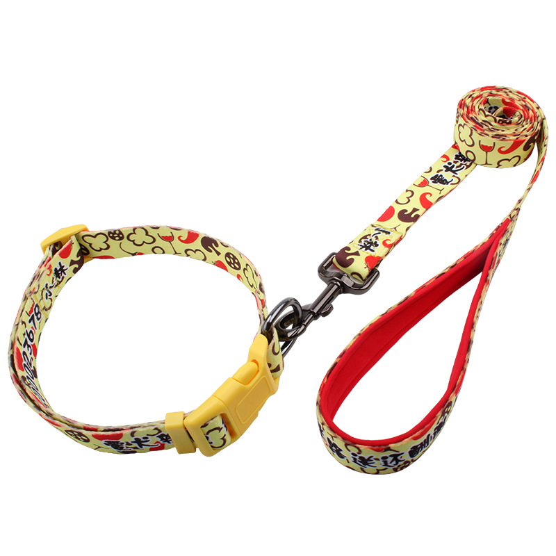 Activity Advertisement Pet Supplies Pet Collar + Hand Holding Rope Two-Piece Set Dog Drawstring