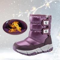2020 New 30 Degree Kids Russia Winter Waterproof Warm Shoes Children's Snow Boots kids shoes rainboots Boys Girls Fashion