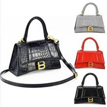 Vintage Hobos Women Crossbody Lady Handbag Messenger Bag OL Alligator Pattern Sm