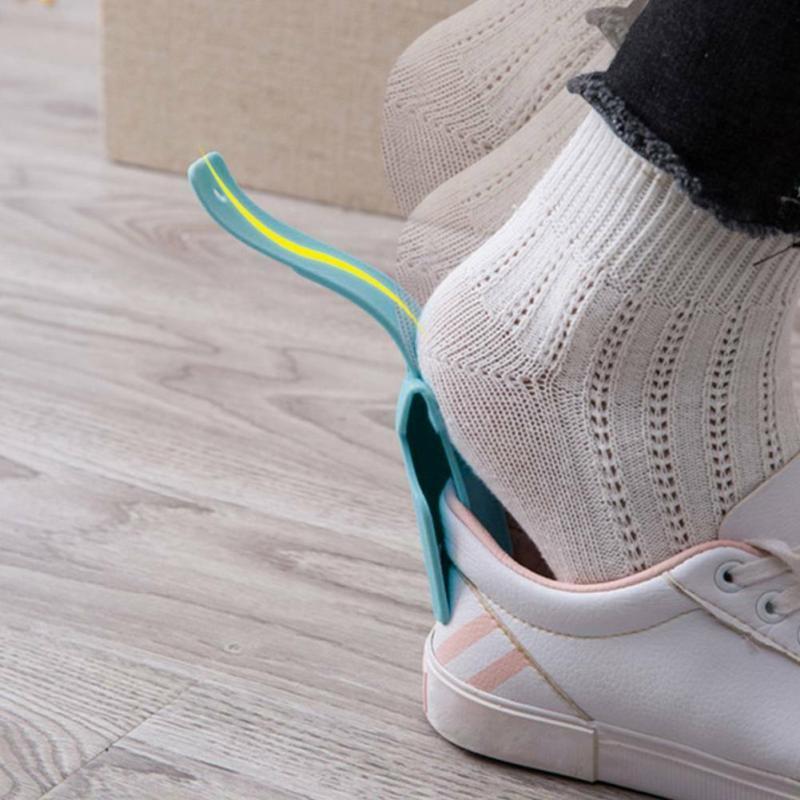 1pcs Lazy Shoe Helper Unisex Wear Shoe Sock Slider Handled Shoe Horn Easy On & Off Shoe Lifting Shoe Helper Sturdy Slip Aid