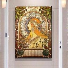 Alphonse Mucha célèbre Illustration art impression sur toile affiches et impressions classique Art Nouveau femme Art photos décor à la maison