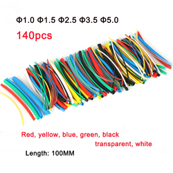 140pcs/70pcs Heat shrink tube Shrink wrapping Insulation Sleeving, protected wire cable Thermoresistant tube DIY Assorted kit