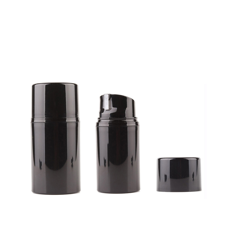 12pcs 30ml 50ml 80ml 100ml 120ml 150ml Empty Airless Lotion Cream Pump Bottle Black Skin Care Personal Care Travel Containers
