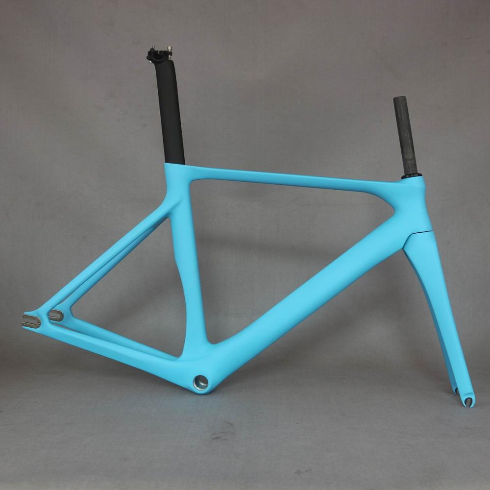 2020 New EPS Technology Fixed Gear Bike Frame  Cheap Chinese Carbon Fiber Bike BSA  Frame FM287