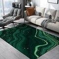Абстрактный мраморный большой ковер для гостиной  креативный зеленый современный ковер  Bedoom прикроватный диван  журнальный столик  несколь...